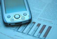голубой шток финансового рынка диаграммы дела Стоковое Фото