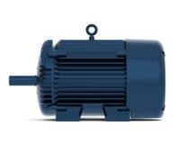голубой электрический двигатель представил глянцеватым Стоковое Изображение
