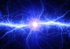 Голубой электрический удар молнии бесплатная иллюстрация