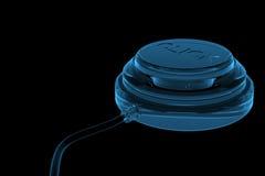 голубой click кнопки представил прозрачный рентгеновский снимок Стоковое Изображение RF