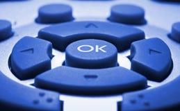 голубой colorized remote управления Стоковые Изображения