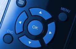 голубой colorized remote управления Стоковое фото RF