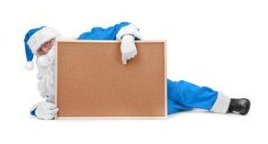 голубой costume santa claus Стоковое Изображение RF