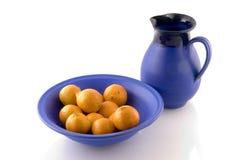 голубой crockery Греция стоковое изображение rf