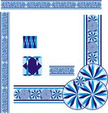 Голубой cyan угол границы 2 предпосылок иллюстрация штока