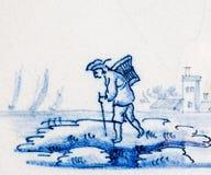 голубой delft стоковое изображение rf
