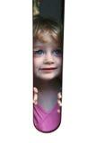 голубой eyed взгляд девушки Стоковые Изображения