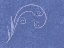 голубой flourish иллюстрация штока
