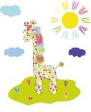 голубой giraffe Стоковое Изображение RF