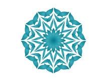 голубой kaleidoscope иллюстрация вектора