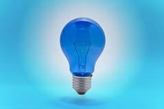 голубой lightbulb Стоковая Фотография RF