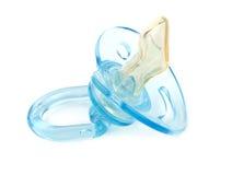 голубой pacifier Стоковая Фотография