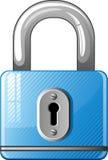 голубой padlock иконы иллюстрация вектора