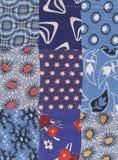 голубой quilt Стоковые Фотографии RF