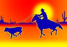 голубой roping икры иллюстрация штока