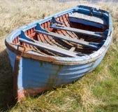 голубой rowing шлюпки Стоковые Фотографии RF
