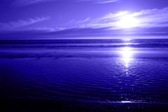 голубой seascape океана Стоковое Изображение