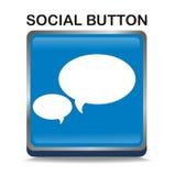 голубой social кнопки Стоковое Изображение