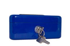 голубой strongbox Стоковое Изображение