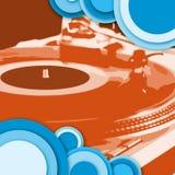 голубой turntable красного цвета круга Стоковые Изображения