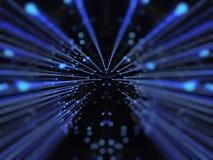голубой warp звезды поля Стоковое Фото