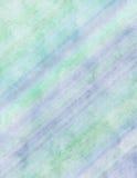 голубой watercolour зеленой бумаги Стоковое Фото