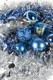 голубой xmas орнамента Стоковые Фотографии RF