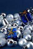 голубой xmas подарков Стоковое Фото