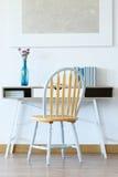 Голубые акценты в домашнем офисе стоковые изображения rf