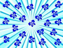 голубые бабочки иллюстрация вектора