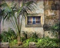 Голубые бары, Painterly и текстурированный, в Португалии стоковые фотографии rf
