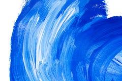 Голубые белые акриловые brushstrokes стоковое изображение rf