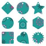 голубые бирки подарка Стоковое фото RF