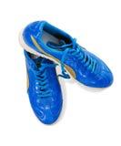 голубые ботинки человека Стоковое Фото