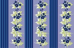 голубые викторианские обои Стоковая Фотография RF