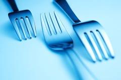 голубые вилки Стоковое Изображение RF
