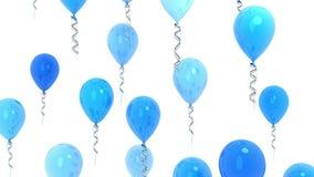 Голубые воздушные шары, безшовная петля и канал альфы сток-видео