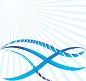 голубые волны вектора солнечности Стоковое Фото