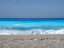 голубые волны горизонта Стоковая Фотография RF