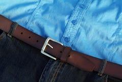 голубые вскользь джинсыы Стоковое фото RF