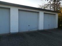 Голубые гаражи Стоковое Фото