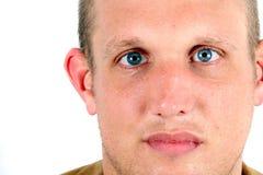голубые глаза доверия Стоковые Изображения