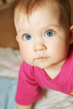 голубые глаза ребенка Стоковые Фото