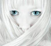 голубые глазы довольно Стоковое Изображение