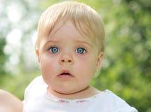 голубые глазы младенца Стоковые Фотографии RF