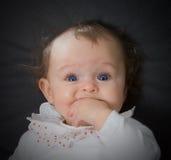 голубые глазы младенца Стоковое Фото