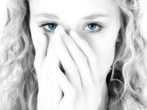 голубые глазы стоковое фото