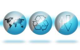 голубые глобусы окружающей среды Стоковые Изображения