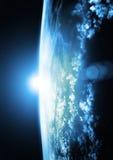 голубые горизонты земли Стоковая Фотография RF