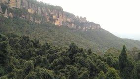 Голубые горные цепи в Новом Уэльсе Австралии Стоковое Фото